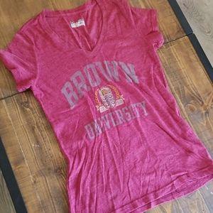 Under Armour Brown University V Neck Maroon Shirt